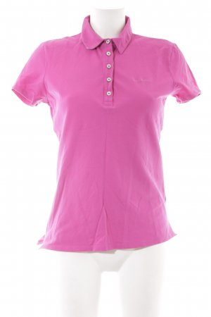 Marc O'Polo Polo-Shirt magenta Casual-Look