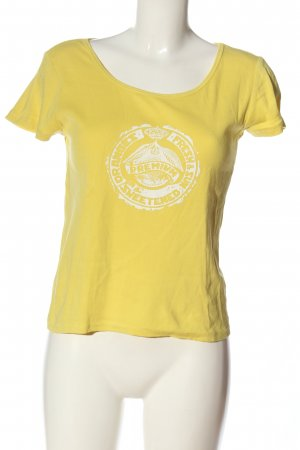 Marc O'Polo Print-Shirt blassgelb-weiß Motivdruck Casual-Look