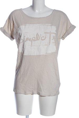 Marc O'Polo Print-Shirt pink-weiß Schriftzug gedruckt Casual-Look