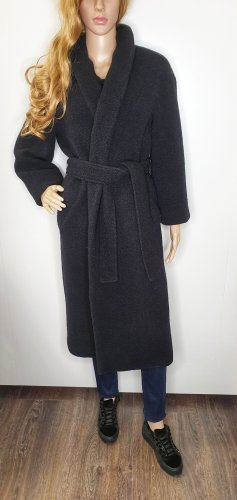 Marc O'Polo Pure Teddy Mantel 34 schwarz oversized Wolle-Mix