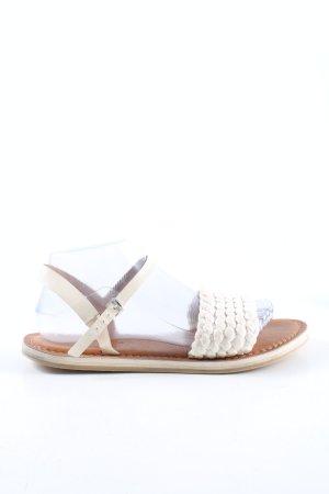 Marc O'Polo Riemchen-Sandalen weiß-wollweiß Zopfmuster Casual-Look