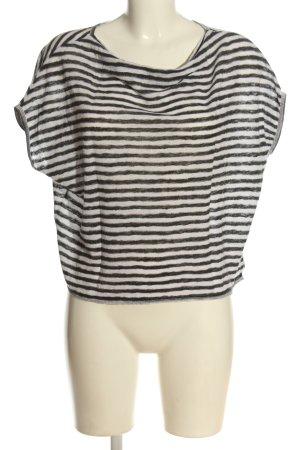 Marc O'Polo Koszulka w paski czarny-biały Wzór w paski W stylu casual