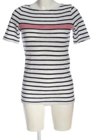 Marc O'Polo Ringelshirt weiß-schwarz Streifenmuster Casual-Look