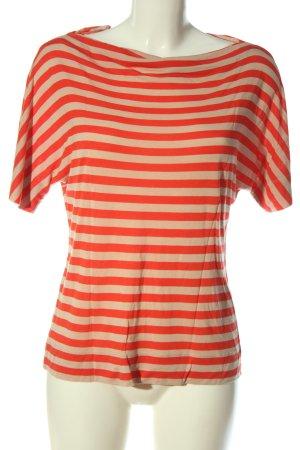 Marc O'Polo Gestreept shirt room-rood gestreept patroon casual uitstraling