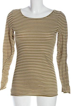 Marc O'Polo Koszulka w paski w kolorze białej wełny-brąz Wzór w paski