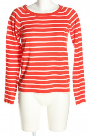 Marc O'Polo Gestreept shirt rood-wit gestreept patroon casual uitstraling