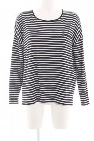 Marc O'Polo Stripe Shirt black-white striped pattern casual look