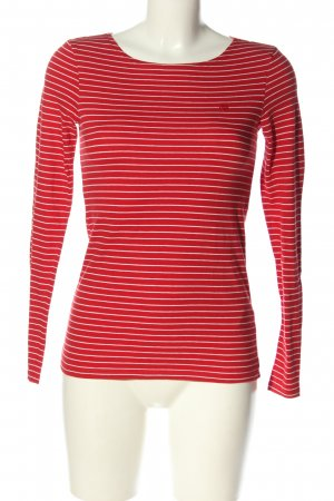 Marc O'Polo Camisa de rayas rojo-blanco letras bordadas look casual