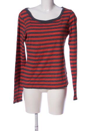 Marc O'Polo Ringelshirt rot-blau Streifenmuster Casual-Look