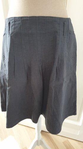 Marc O'Polo Asymmetry Skirt grey-slate-gray cotton