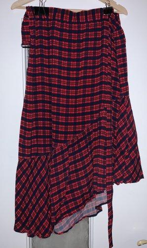 Marc O'Polo Spódnica midi ciemnoniebieski-głęboka czerwień