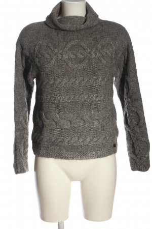 Marc O'Polo Turtleneck Sweater light grey cable stitch casual look