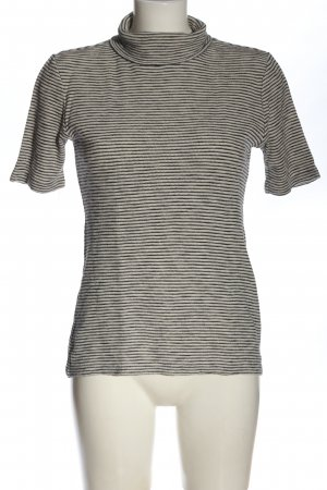 Marc O'Polo Turtleneck Shirt black-natural white striped pattern casual look