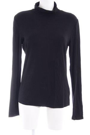 Marc O'Polo Colshirt zwart casual uitstraling
