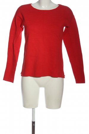 Marc O'Polo Rundhalspullover rot Casual-Look