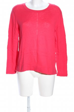 Marc O'Polo Rundhalspullover pink meliert Casual-Look
