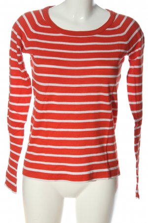 Marc O'Polo Rundhalspullover rot-weiß Allover-Druck Casual-Look