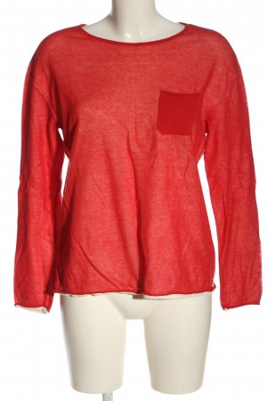 Marc O'Polo Rundhalspullover rot meliert Casual-Look