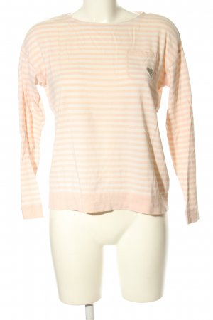 Marc O'Polo Rundhalspullover creme-weiß Allover-Druck Casual-Look