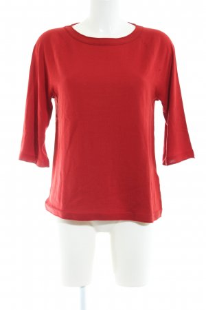 Marc O'Polo Rundhalspullover rot Business-Look
