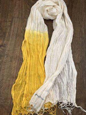 Marc O'Polo Chal veraniego amarillo-blanco