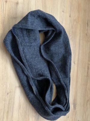 Marc O'Polo Bufanda tubo azul-gris Lana