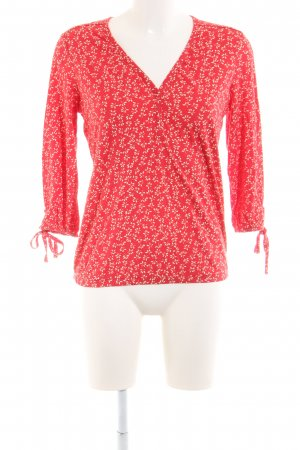 Marc O'Polo Schlupf-Bluse rot-wollweiß Allover-Druck Casual-Look