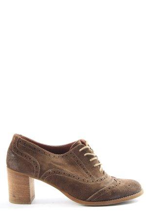 Marc O'Polo Sznurowane buty brązowy W stylu biznesowym