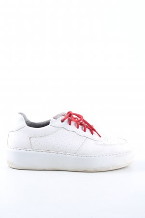Marc O'Polo Schnürsneaker weiß-rot Casual-Look