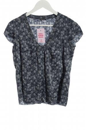 Marc O'Polo Silk Blouse light grey allover print casual look