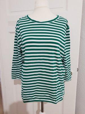 Marc O'Polo T-shirt rayé blanc-vert forêt coton