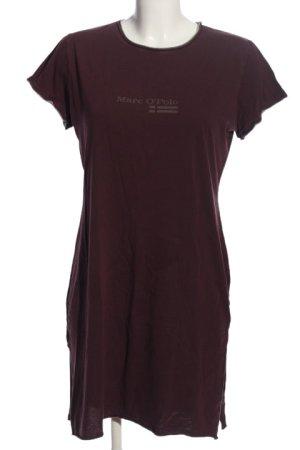 Marc O'Polo Robe t-shirt gris clair-rose lettrage imprimé style décontracté