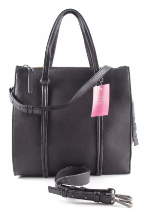 """Marc O'Polo Shopper """"Thirtyseven Washed Leather Tote Bag Black"""" zwart"""