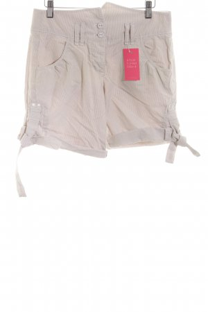 Marc O'Polo Shorts wollweiß-creme Streifenmuster Casual-Look