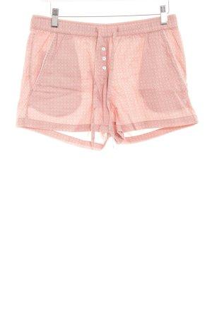 Marc O'Polo Shorts apricot-kornblumenblau Punktemuster Casual-Look