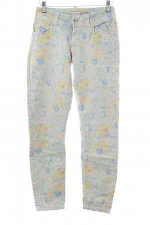 Marc O'Polo Skinny Jeans Blumenmuster Casual-Look