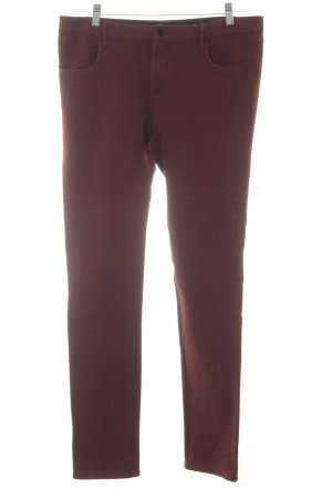 Marc O'Polo Skinny Jeans bordeauxrot-schwarz grafisches Muster Casual-Look