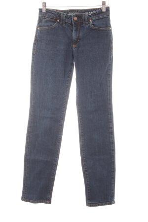 Marc O'Polo Slim Jeans dunkelblau Webmuster Casual-Look