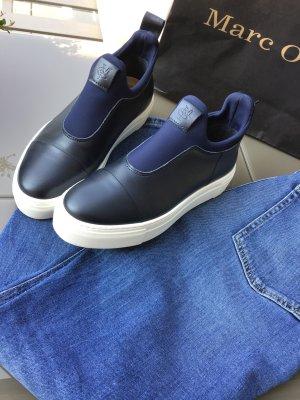 Marc O'Polo Basket slip-on bleu foncé cuir