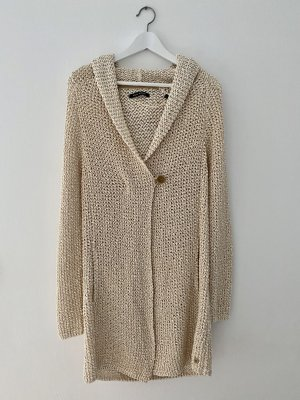 Marc O'Polo Coarse Knitted Jacket cream-beige cotton