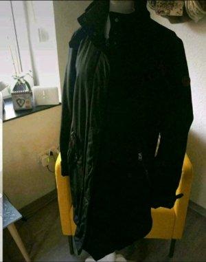 Marc O'Polo Pikowany płaszcz ciemnoniebieski