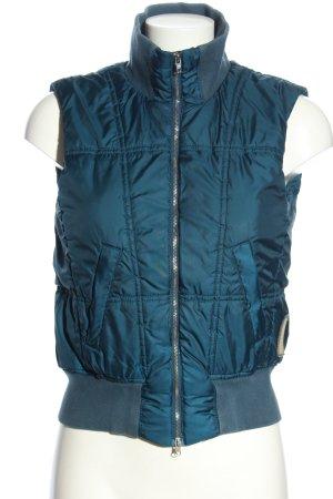 Marc O'Polo Gilet matelassé bleu motif de courtepointe style décontracté