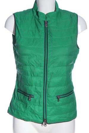 Marc O'Polo Pikowana kamizelka zielony Pikowany wzór W stylu casual