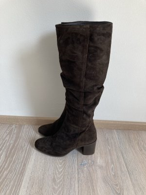 Marc O'Polo Winter Boots dark brown-brown leather