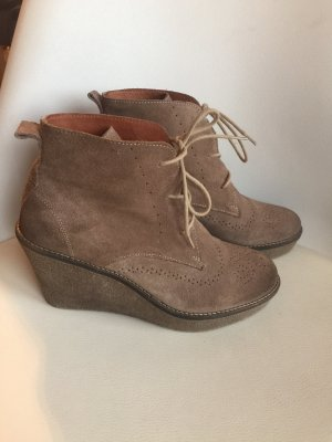 Marc O'Polo Lace-up Booties light brown