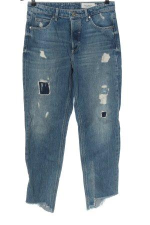 Marc O'Polo Jeansy z prostymi nogawkami niebieski W stylu casual