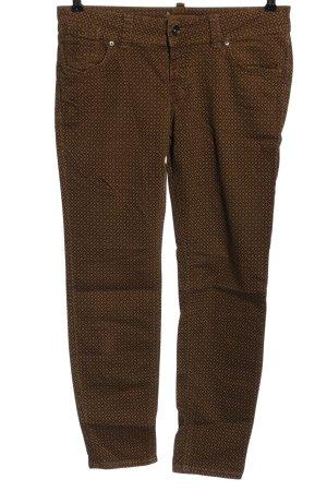 Marc O'Polo Jeans a gamba dritta marrone-arancione chiaro stampa integrale