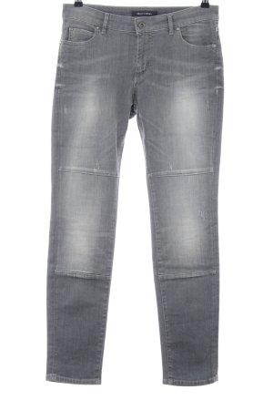 Marc O'Polo Straight-Leg Jeans hellgrau Casual-Look