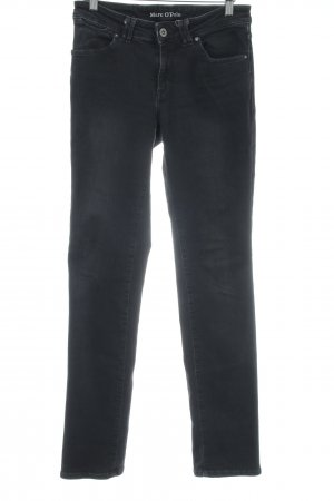 Marc O'Polo Straight-Leg Jeans schwarz Casual-Look