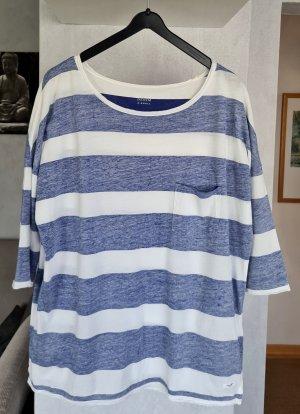 Marc O'Polo Oversized Shirt blue-white cotton